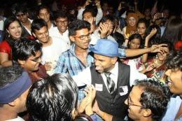 SRK's 50th Birthday Party at Sahara Star by SRKUniverse on 2nd November 2015.